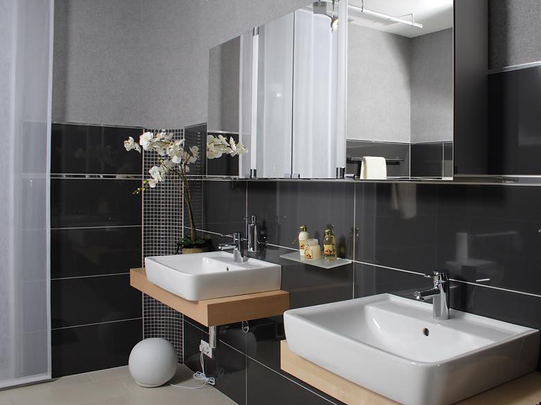 Badezimmer Grau Schwarz  Badezimmer Grau Schwarz Badezimmer ideen